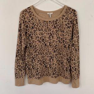 Joie Annora Leopard Raglan sweatshirt